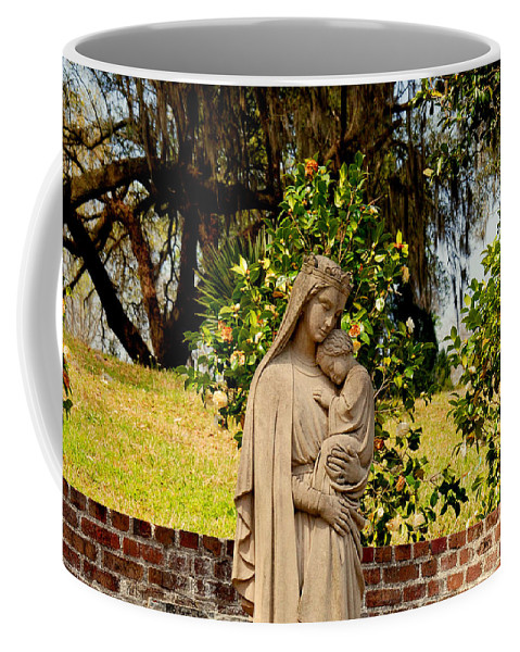 Holy Mary And Child Coffee Mug featuring the photograph Mother Mary by Susanne Van Hulst