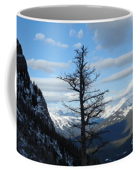 Old Larch Tree Coffee Mug featuring the photograph Mother Natures Canvas by Greg Hammond