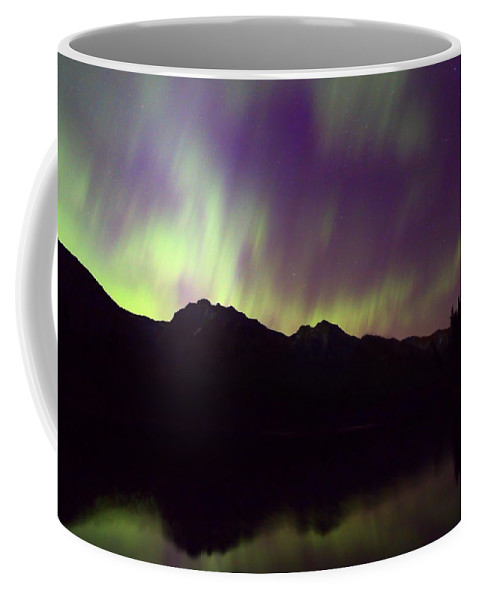 Johnson Lake Coffee Mug featuring the photograph Mother Natures Fireworks by James Anderson