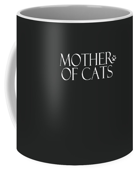 Cat Coffee Mug featuring the digital art Mother Of Cats- By Linda Woods by Linda Woods