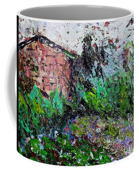 Garden Paintings Coffee Mug featuring the painting Mother by Seon-Jeong Kim