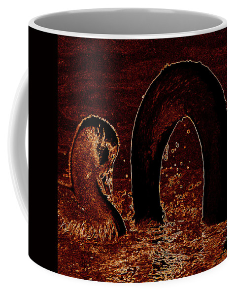 Swan Coffee Mug featuring the photograph Mother Swan And Cygnet by James Hill