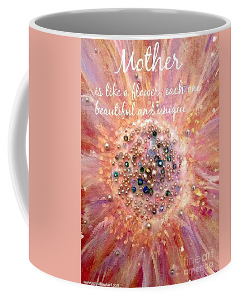 Mothers Day Card Coffee Mug featuring the painting Mothers Day Greeting Card by Jacqui Hawk