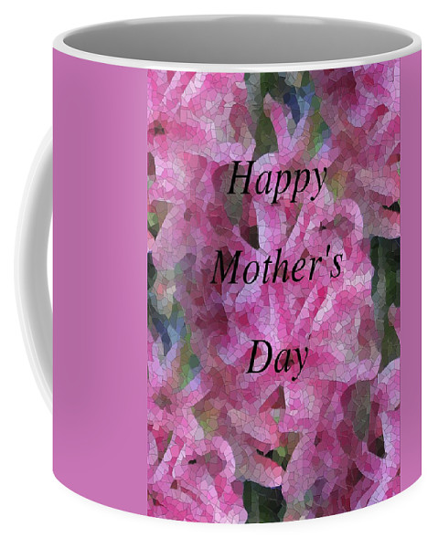 Flowers Coffee Mug featuring the digital art Mother's Day Pretty In Pink by Tim Allen