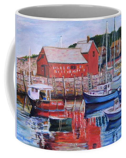 Rockport Coffee Mug featuring the painting Motif Number One by Richard Nowak