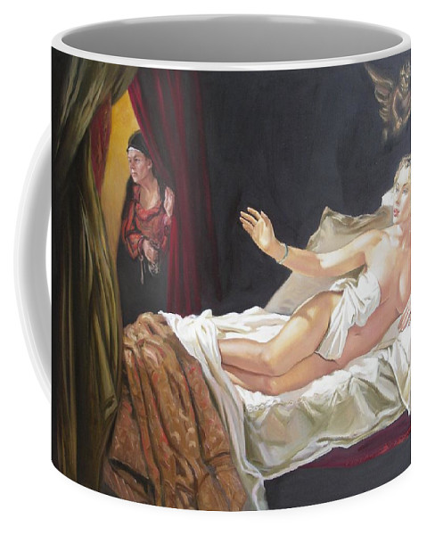 Ignatenko Coffee Mug featuring the painting Motif Of Danae by Sergey Ignatenko