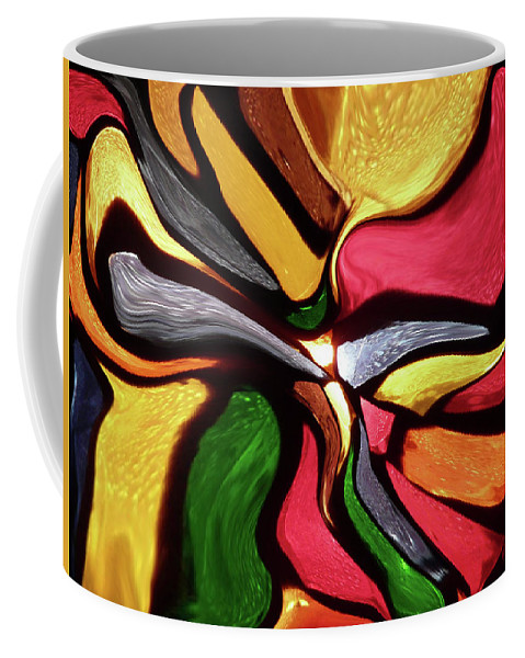 Motion Coffee Mug featuring the mixed media Motion And Light Abstract by David Dehner