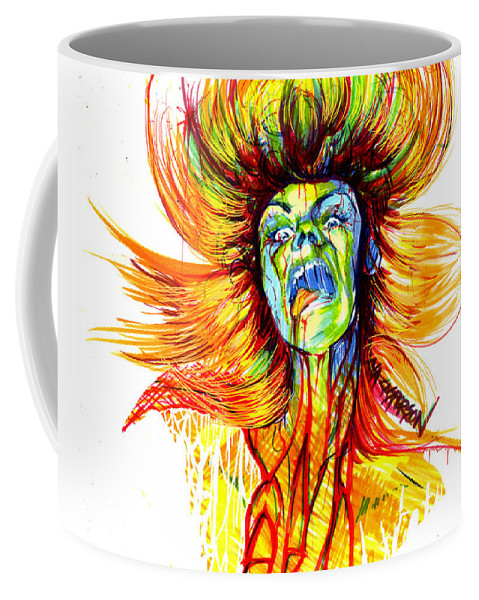 Scream Coffee Mug featuring the drawing Motorbreath by Christina Casperson