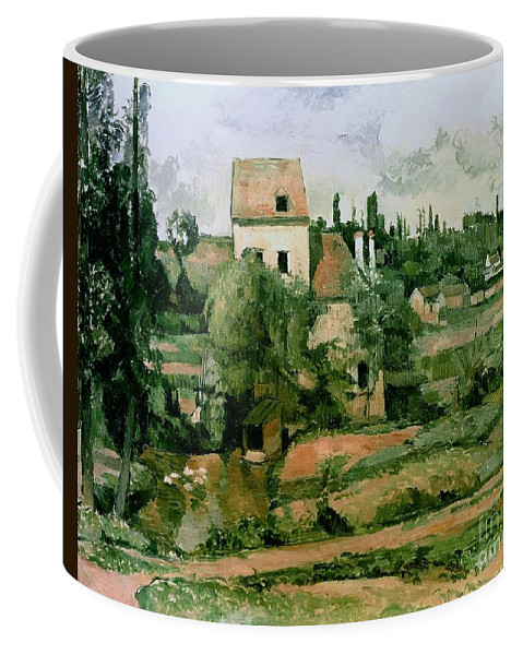 Coffee Mug featuring the painting Moulin De La Couleuvre At Pontoise by Paul Cezanne
