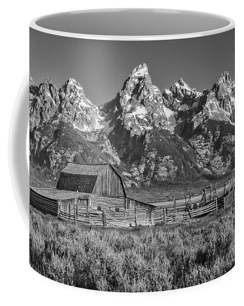 Grand Teton Coffee Mug featuring the photograph Moulton Cabin - Grand Tetons II by Sandra Bronstein