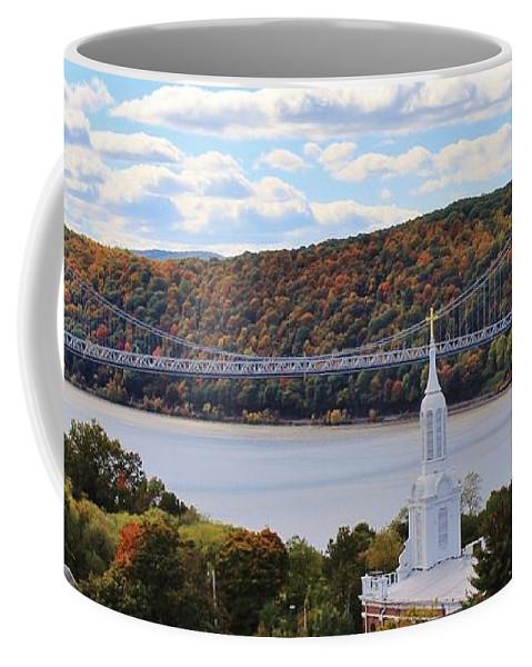 Karen Silvestri Coffee Mug featuring the photograph Mount Carmel And The Mid Hudson Bridge by Karen Silvestri