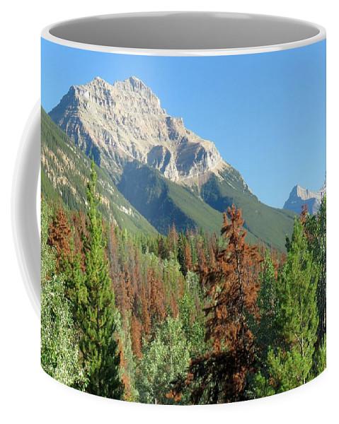 Mountain Coffee Mug featuring the photograph Mount Kerkeslin by Frank Townsley