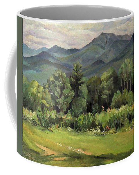 White Mountain Paintngs Coffee Mug featuring the painting Mount Lafayette From Sugar Hill New Hampshire by Nancy Griswold