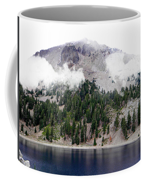 Frank Wilson Coffee Mug featuring the photograph Mount Lassen Volcano In The Clouds by Frank Wilson