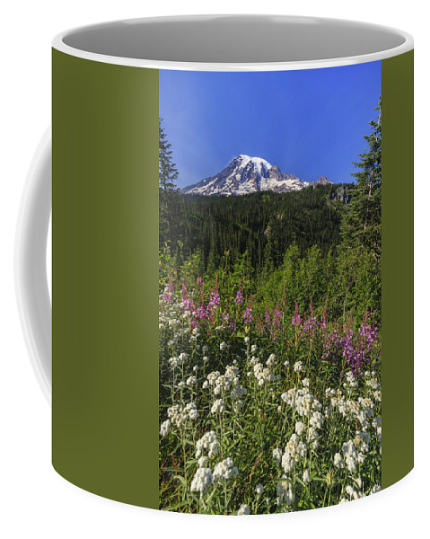 3scape Coffee Mug featuring the photograph Mount Rainier by Adam Romanowicz