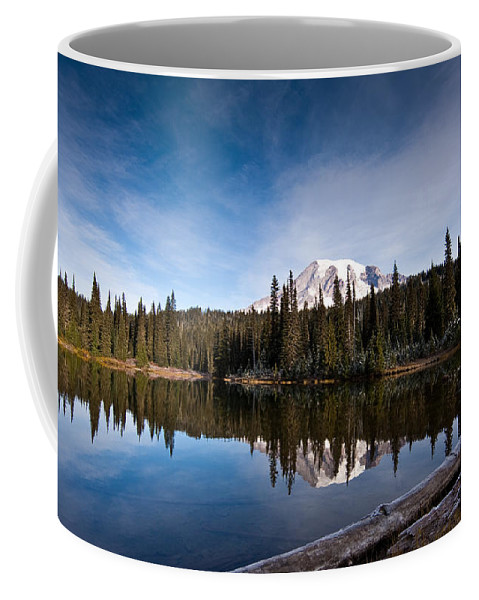 Mount Rainier Coffee Mug featuring the photograph Mount Rainier Reflection by Mike Reid