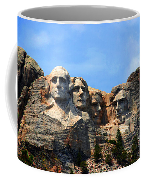 Photography Coffee Mug featuring the photograph Mount Rushmore In South Dakota by Susanne Van Hulst