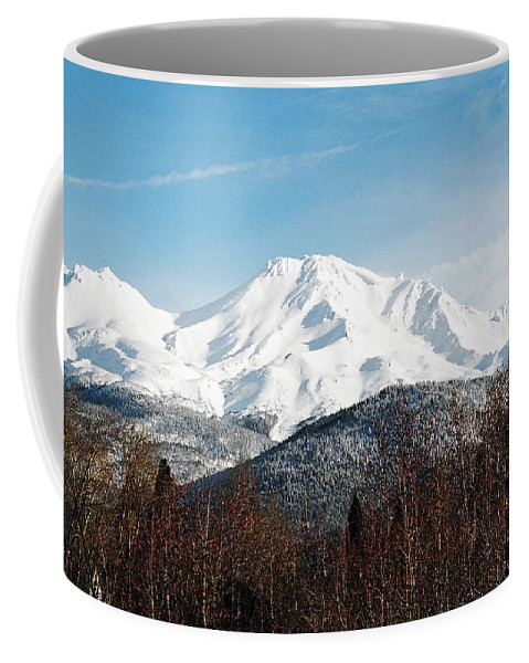 Mount Shasta Coffee Mug featuring the photograph Mount Shasta by Anthony Jones