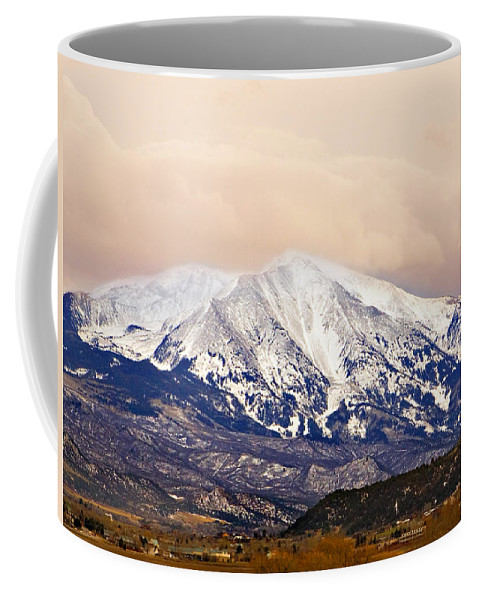 Americana Coffee Mug featuring the photograph Mount Sopris by Marilyn Hunt