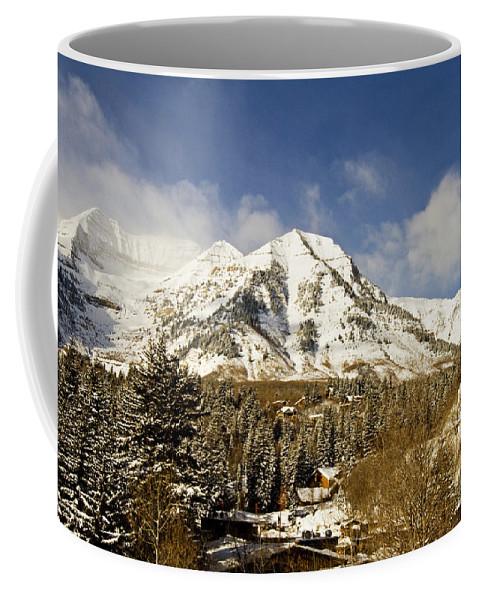Mountain Coffee Mug featuring the photograph Mount Timpanogos by Scott Pellegrin