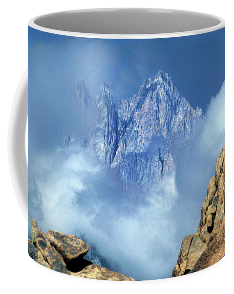 Eastern Sierras Coffee Mug featuring the photograph Mount Whitney Clearing Storm Eastern Sierras California by Dave Welling