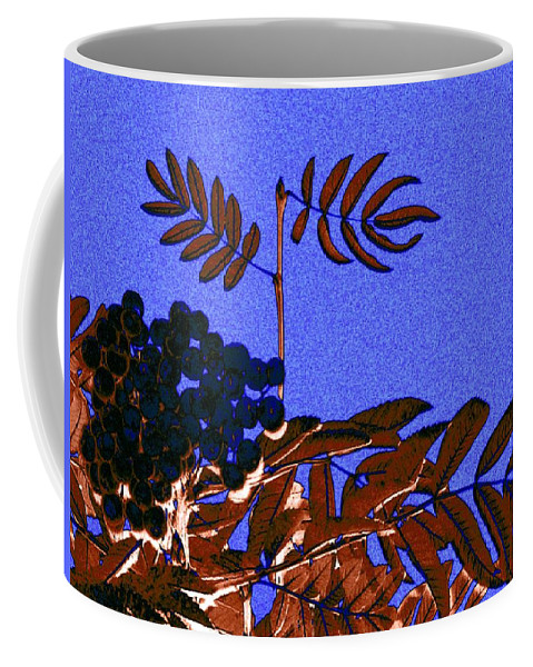 Abstract Coffee Mug featuring the digital art Mountain Ash Design by Will Borden