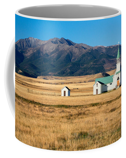 Church Coffee Mug featuring the photograph Mountain Chapel by Todd Klassy