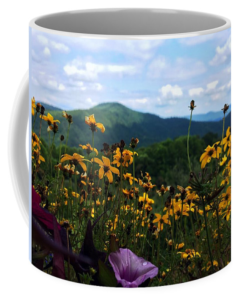 Mountains Coffee Mug featuring the photograph Mountain Flowers by Bryce Clark