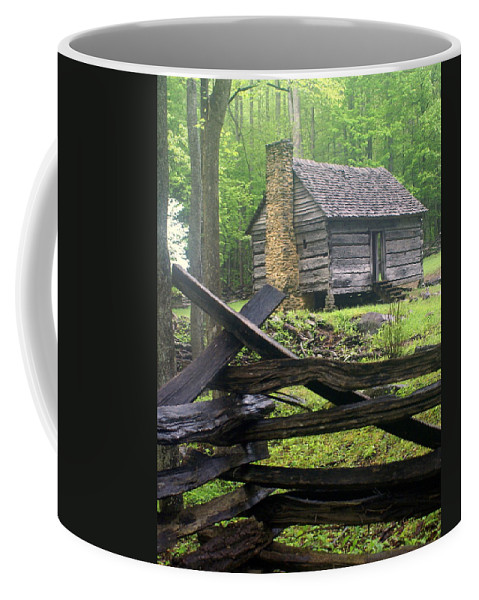 Smokey Mountain National Park Coffee Mug featuring the photograph Mountain Homestead by Marty Koch