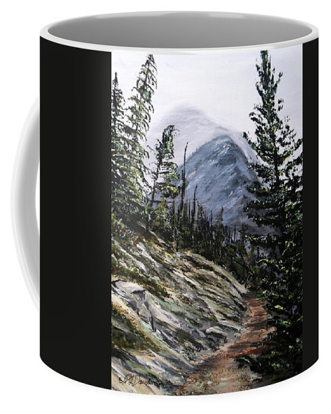 Mountain Coffee Mug featuring the painting Mountain Pathway by Patricia L Davidson