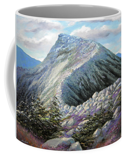 Landscape Coffee Mug featuring the painting Mountain Ridge by Frank Wilson