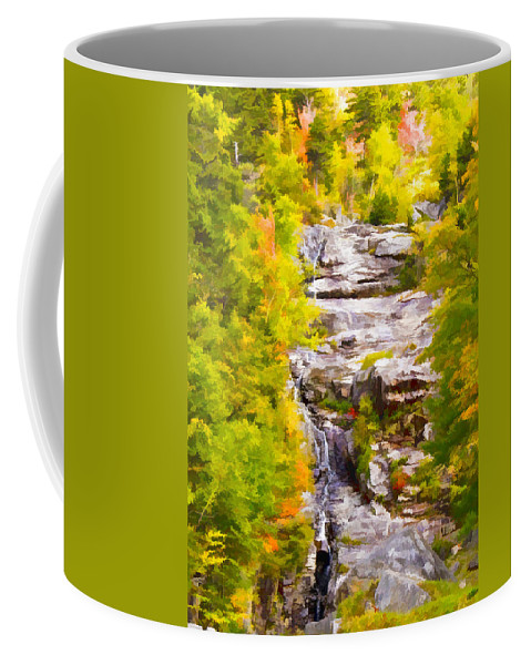 New Hampshire Coffee Mug featuring the digital art Mountain Stream by Ches Black