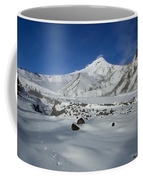 Mt. Hood Coffee Mug featuring the photograph Mountain Tracks by Mike Dawson