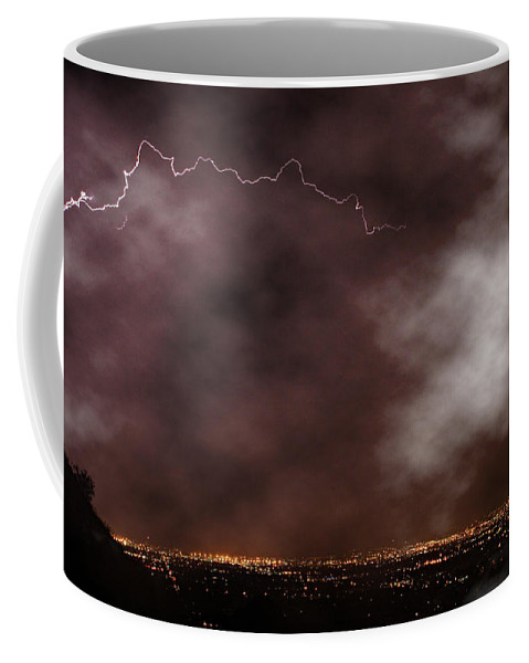 Lightning Coffee Mug featuring the photograph Mountain View by James BO Insogna