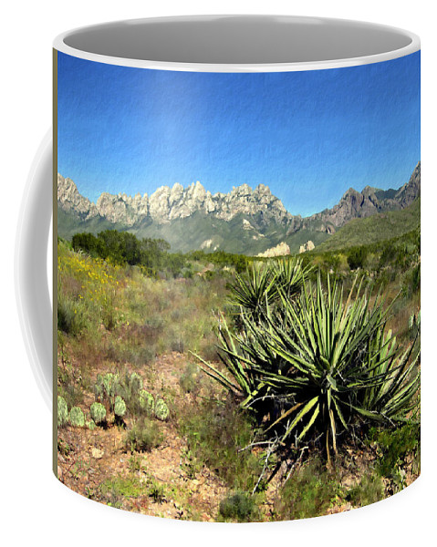 Organ Mountains Coffee Mug featuring the photograph Mountain View Las Cruces by Kurt Van Wagner