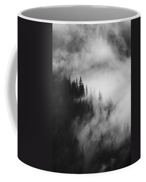 Forest Coffee Mug featuring the photograph Mountain Whispers by Mike Dawson