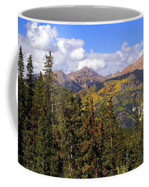 Colorado Coffee Mug featuring the photograph Mountains Aglow by Marty Koch