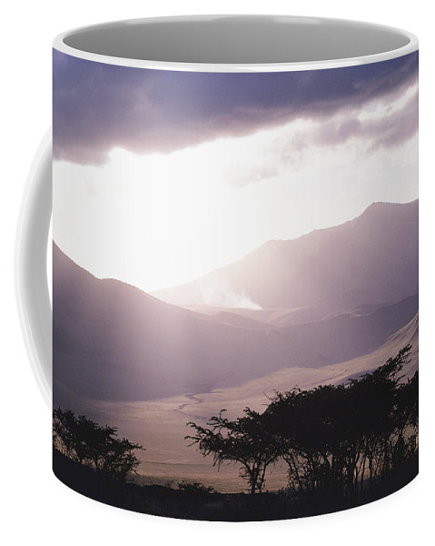 Africa Coffee Mug featuring the photograph Mountains And Smoke, Ngorongoro Crater by Skip Brown
