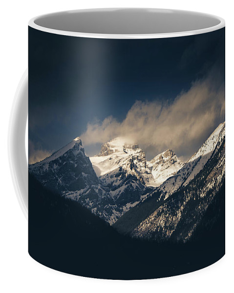 Mountains Coffee Mug featuring the photograph Mountains At Dusk by Ethan Helferty