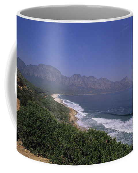 South Africa Coffee Mug featuring the photograph Mountains Meet Ocean On The Garden by Stacy Gold