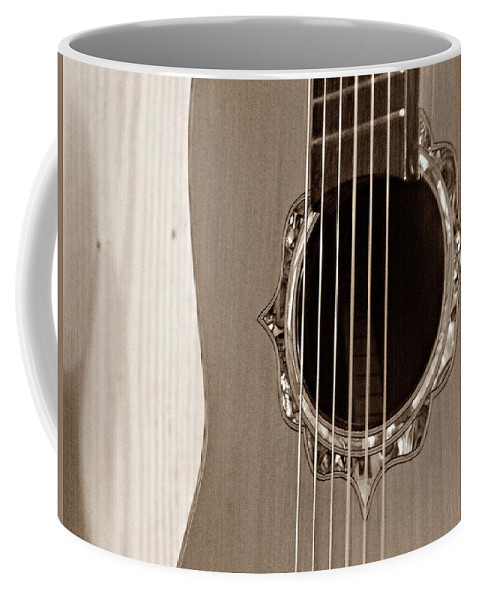 Guitar Coffee Mug featuring the photograph Mounted 6 String by Steve Cochran