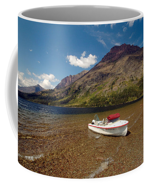 Moutains Coffee Mug featuring the photograph Moutain Lake by Sebastian Musial