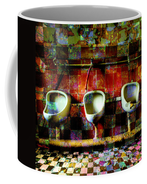 Marcel Duchamp Coffee Mug featuring the digital art Move Over Marcel by Barbara Berney