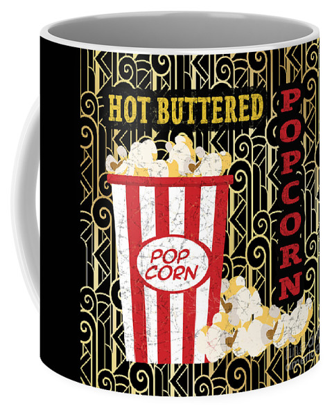 Digital Art Coffee Mug featuring the painting Movie Night-jp3612 by Jean Plout