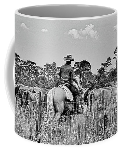 Kerisart Coffee Mug featuring the photograph Moving Cattle by Keri West