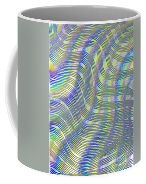Abstract Coffee Mug featuring the painting Moving Matrix by Frances Ku