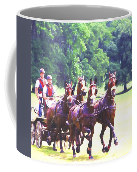Horses Coffee Mug featuring the photograph Moving Quickly by Alice Gipson