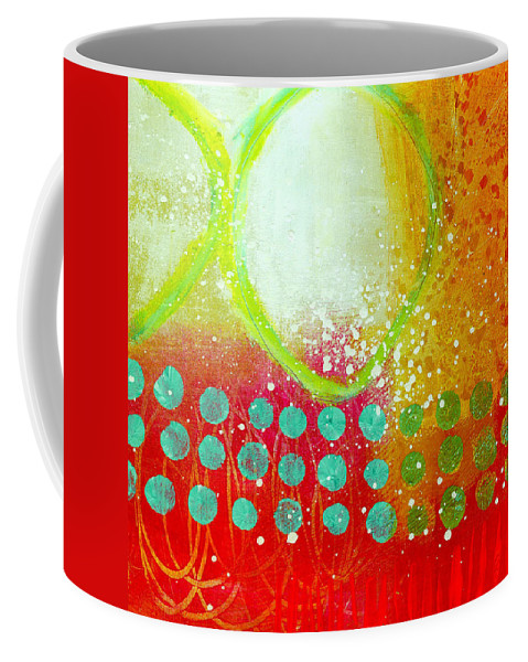 4x4 Coffee Mug featuring the painting Moving Through 10 by Jane Davies
