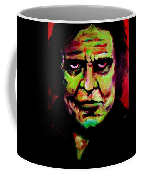 Portrait Coffee Mug featuring the painting Mr. Cash by Jason Reinhardt