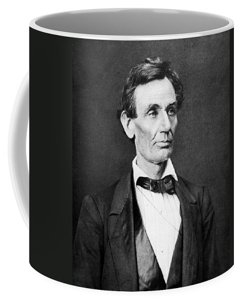 Abraham Lincoln Coffee Mug featuring the photograph Mr. Lincoln by War Is Hell Store